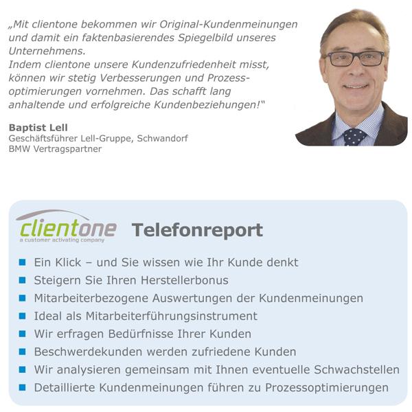 Clientone_Telefonreport