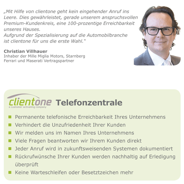 Clientone_Telefonzentrale